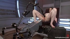 Slightly chubby GF Tessa Lane rides a powerful and tremendous machine