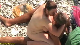 Chubby amateur embraces her lover as she rides him
