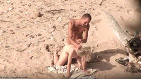 Violent and passionate sex with a blond-haired nudist girlfriend